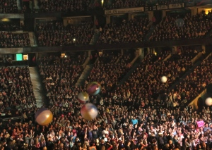 "Beach balls were launched into the crowd during ""One-Way Ticket"""