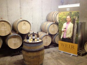 Touring Mike Weir Wine facilities - opening this fall